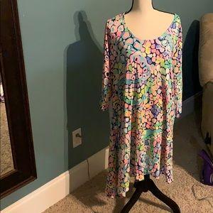 Lilly Pulitzer dress asymmetrical size XL